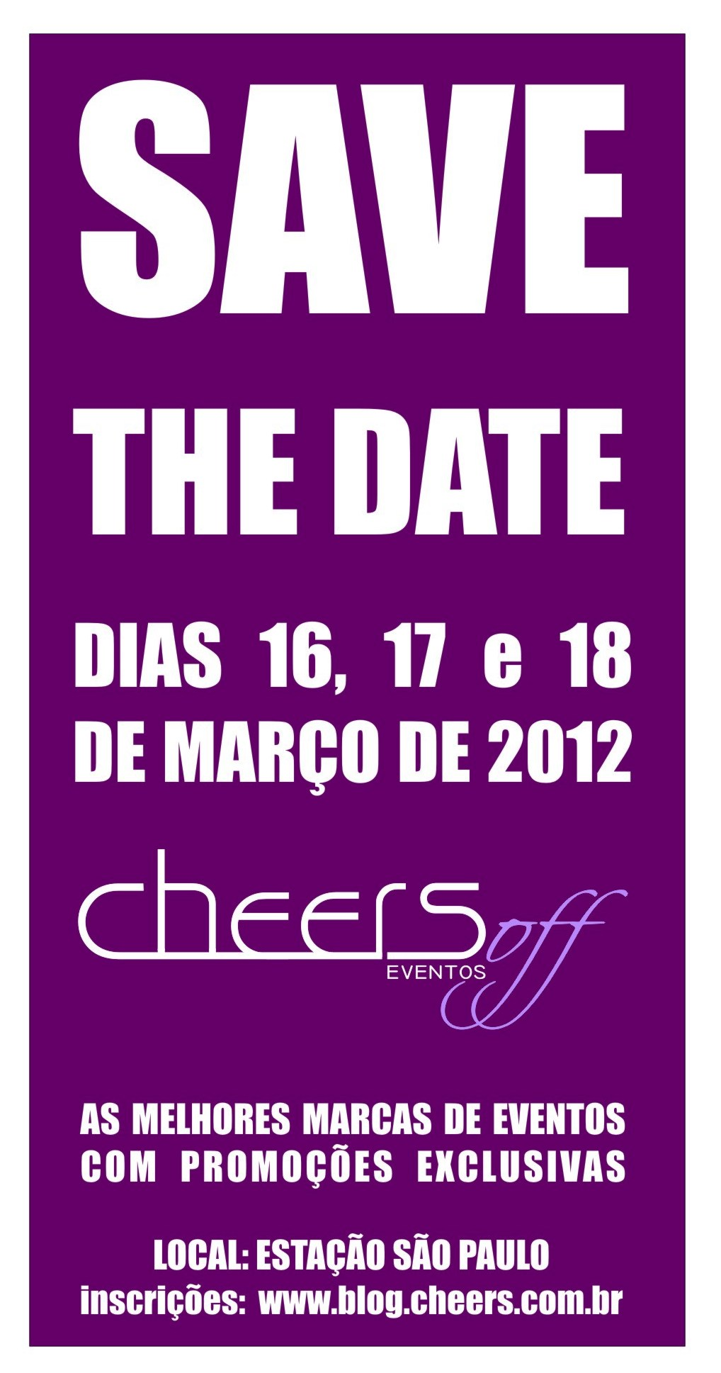 save the date cheers off Cheers OFF 3ª Edição fotografo